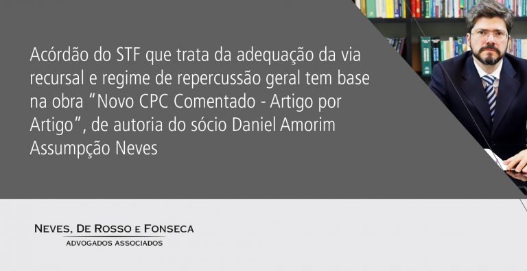 acórdão do STF  - Daniel
