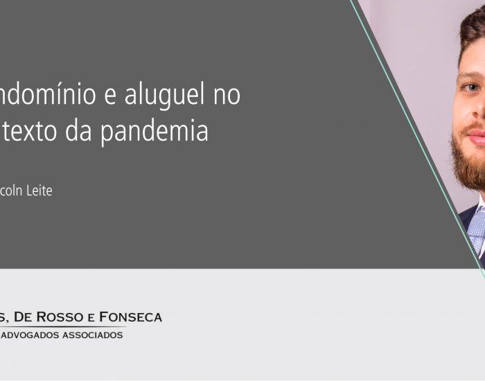 Condomínio e aluguel no contexto da pandemia